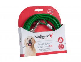 Tie Out Cable Green 9m