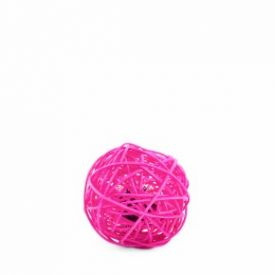 Jk Animals Pink Rattan Ball With Bell 6cm