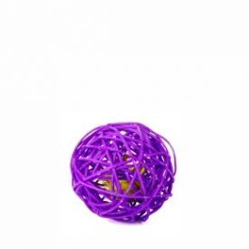 Jk Animals Purple Rattan Ball With Bell 6cm