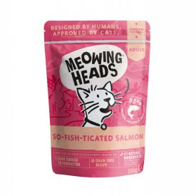 Meowing Heads Wet Pouch So-fish-ticated Salmon 100g