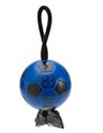 Blue Looper Sport Blue & Black Soccer Ball Waste Bag Dispenser