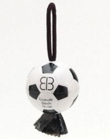 Looper Sport White & Black Soccer Ball Waste Bag Dispenser