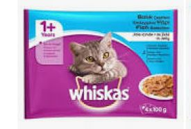Whiskas 1+ In Jelly 4x100gr Fish Selection
