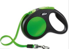 Flexi Lead Neon Green Safety Medium Dog 25kg M - 5m Long Tape