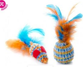 Jk Animals Ball&mouse With Feathers