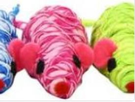 Nobby Toy Box Cat Mouse Wrapped Coloured Tube 7 Cm