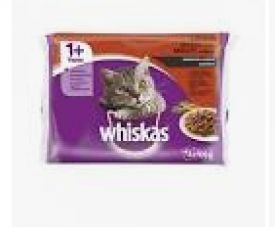 Whiskas 1+ In Jelly 4x100gr Meat Selection