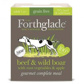 Forthglade-beef & Wild Boar With Root Vegetables & Apple 395g