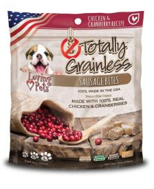 Loving Pets Totally Grainless Grain Free Chicken And Cranberry Recipe Sausage Bites