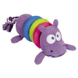 image of Nobby Plush Hippo With Rubber Toy