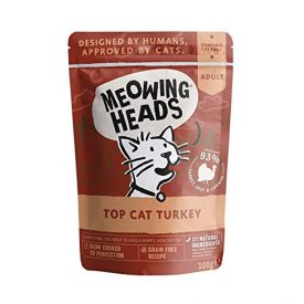 image of Meowing Heads Feline Wet Pouch Top-cat Turkey	100g