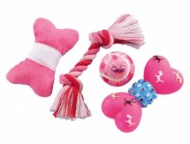 Nobby Puppy Set Pink Set Of 4 Pieces