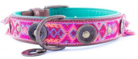 image of Dog With A Mission - Boho Rosa 4cm Xl Collar