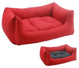 image of Vas Cushioned Bed Red/brown 73x63x24
