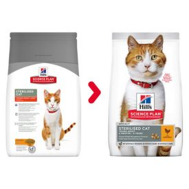 Hill's Science Plan Sterilised Cat Young Adult Cat Food With Chicken