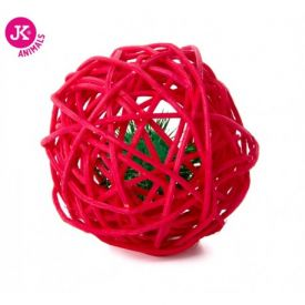 Jk Animals Red Rattan Ball With Bell 6cm