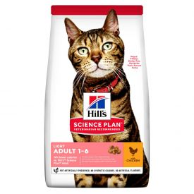 Hill's Science Plan Light Adult Cat Food With Chicken